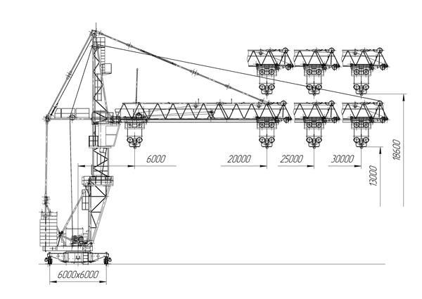Схема - Мобильный башенный кран КБМ-401ПА-41